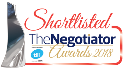 Shortlisted, The Negotiator Awards 2018