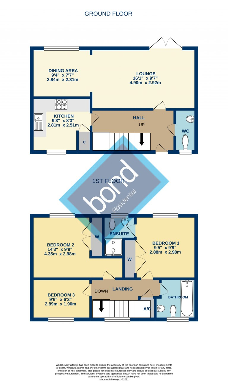 Floorplans For Great Baddow, Chelmsford, Essex