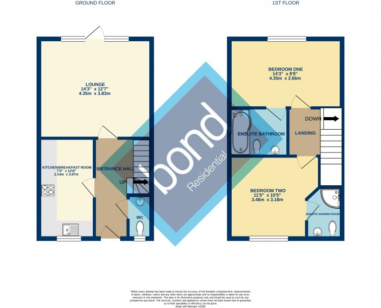 Floorplans For Baddow Road, Chelmsford, Essex